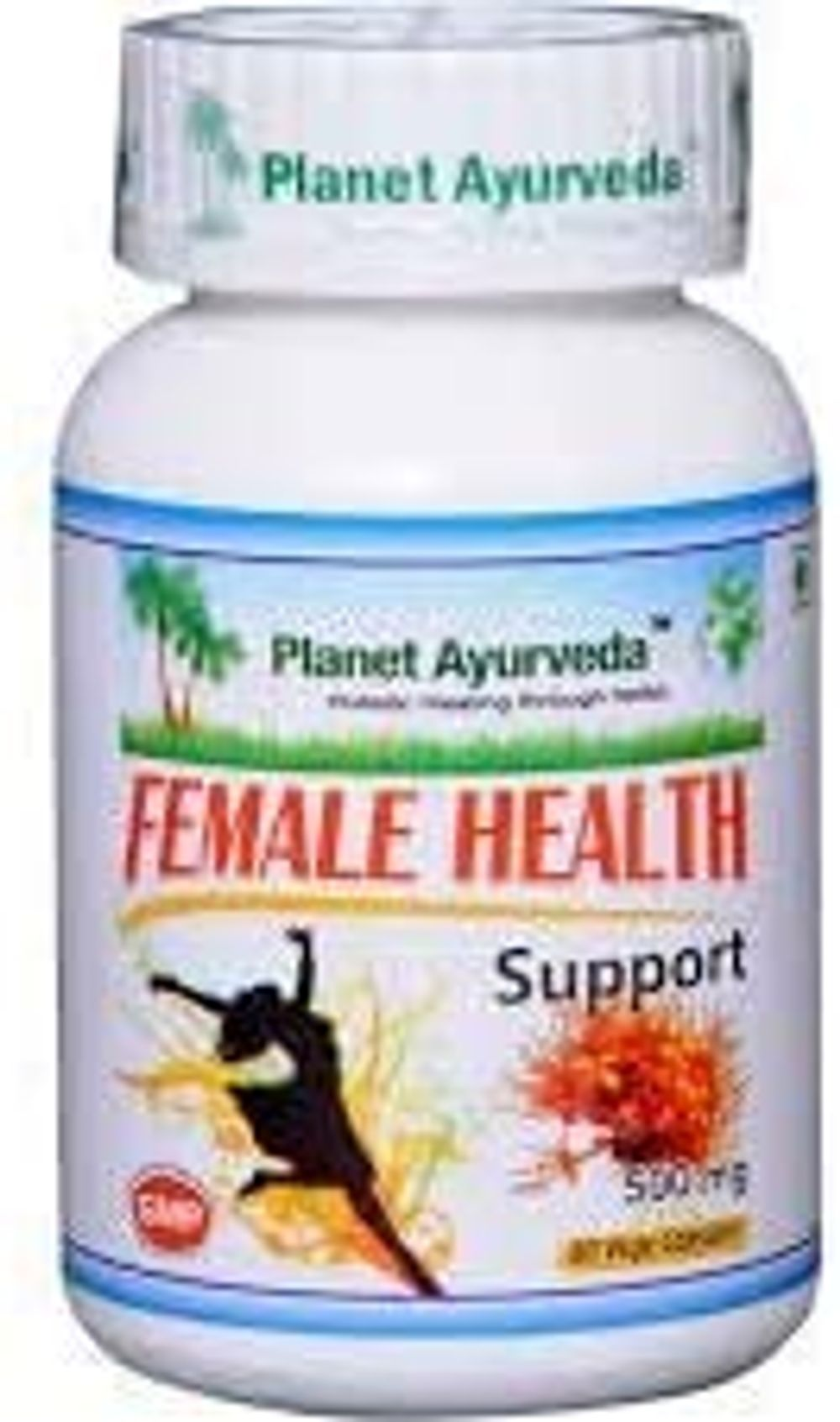 Planet Ayurveda Female Health Support | A Complete Herbal Health Care Supplement | Immunity Booster | Contains Ashok, Lodhra & Shatavari Herbs | 60 Veg Capsules, 500MG
