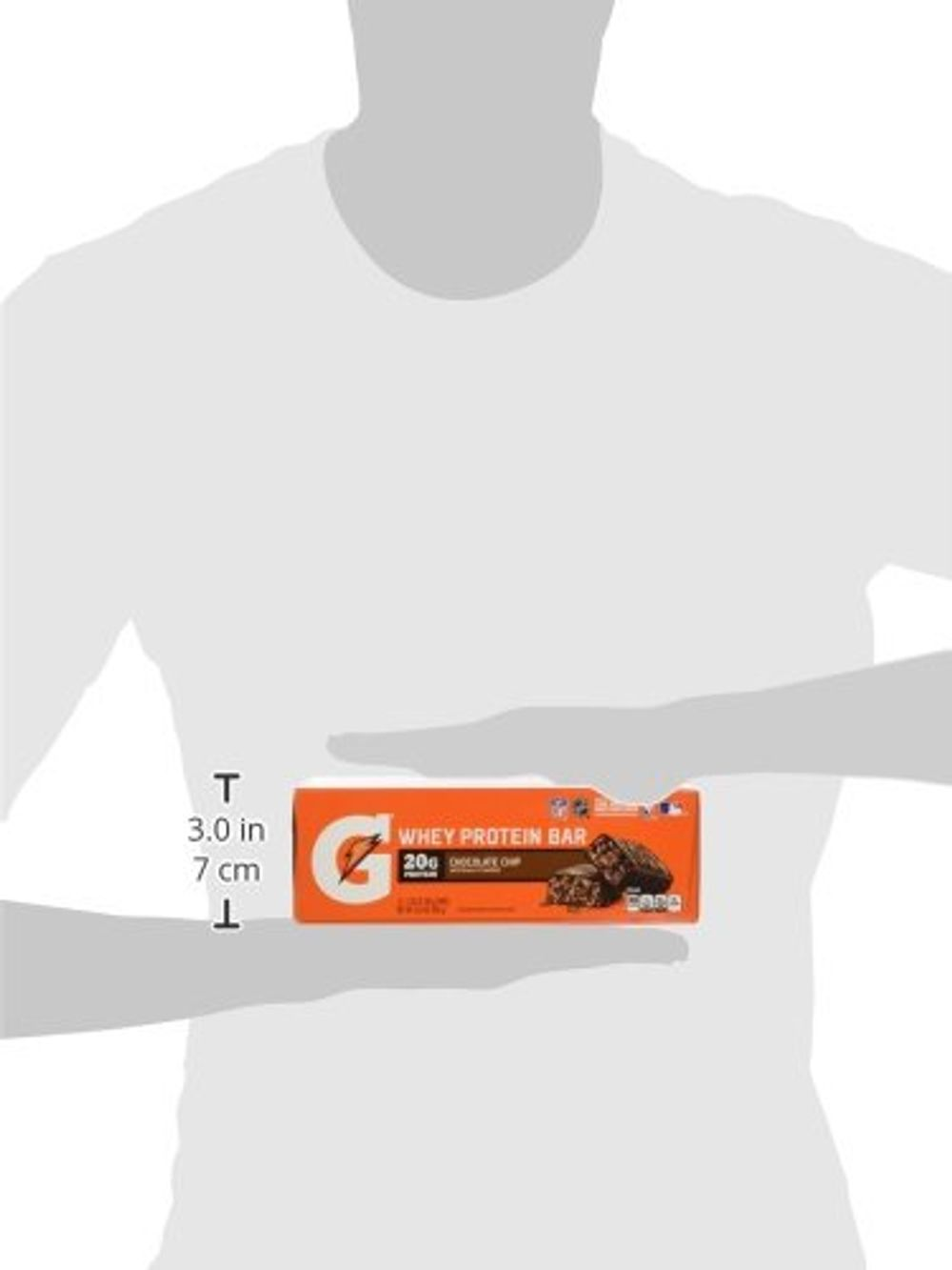Gatorade Whey Protein Recover Bars, Chocolate Chip, 2.8 ounce bars (12 Count)