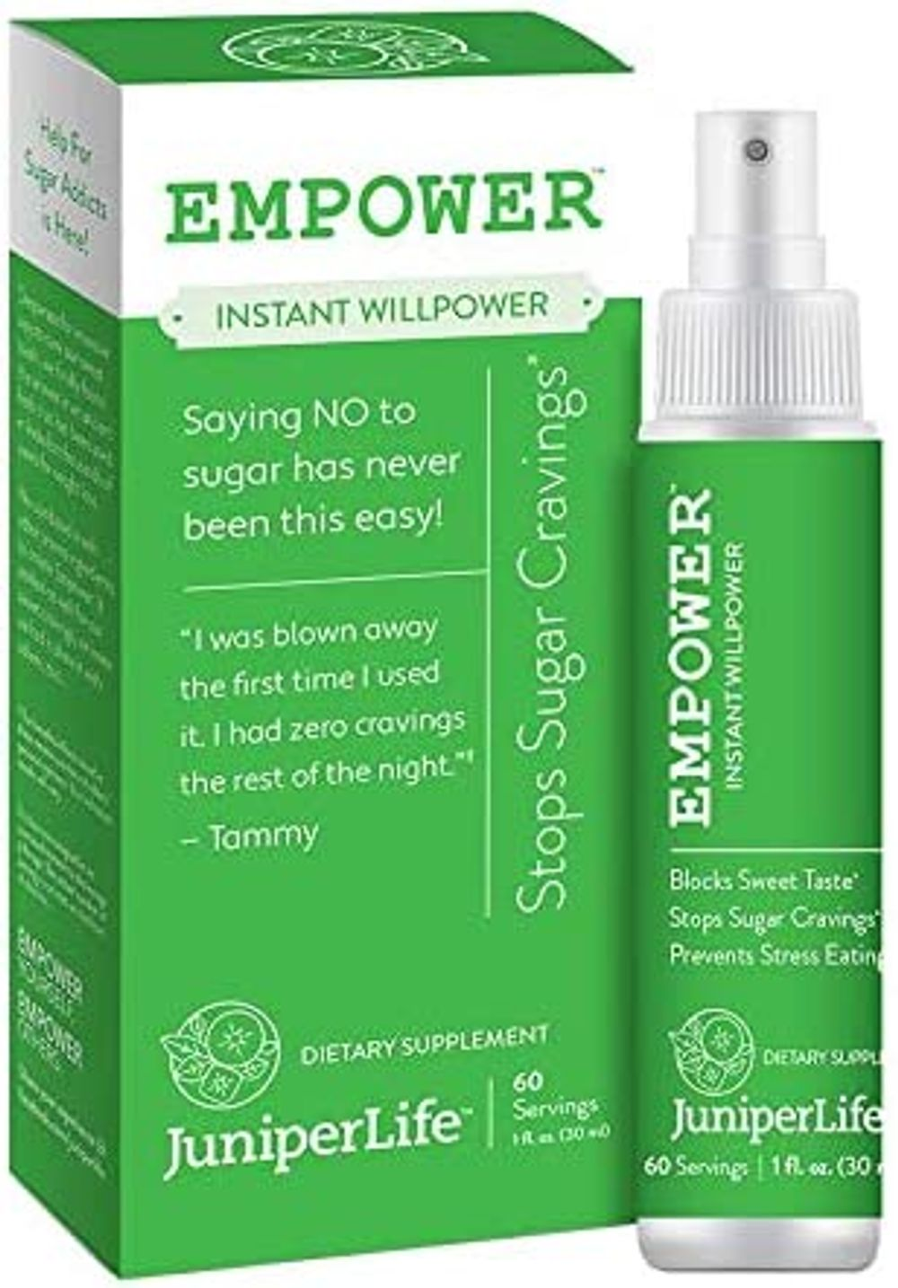Empower - Instant Willpower™ Stop Sugar Cravings for Healthy Weight Management   Gymnema Sylvestre Taste and Carb Blocker to Support Keto, Low Carb Diets