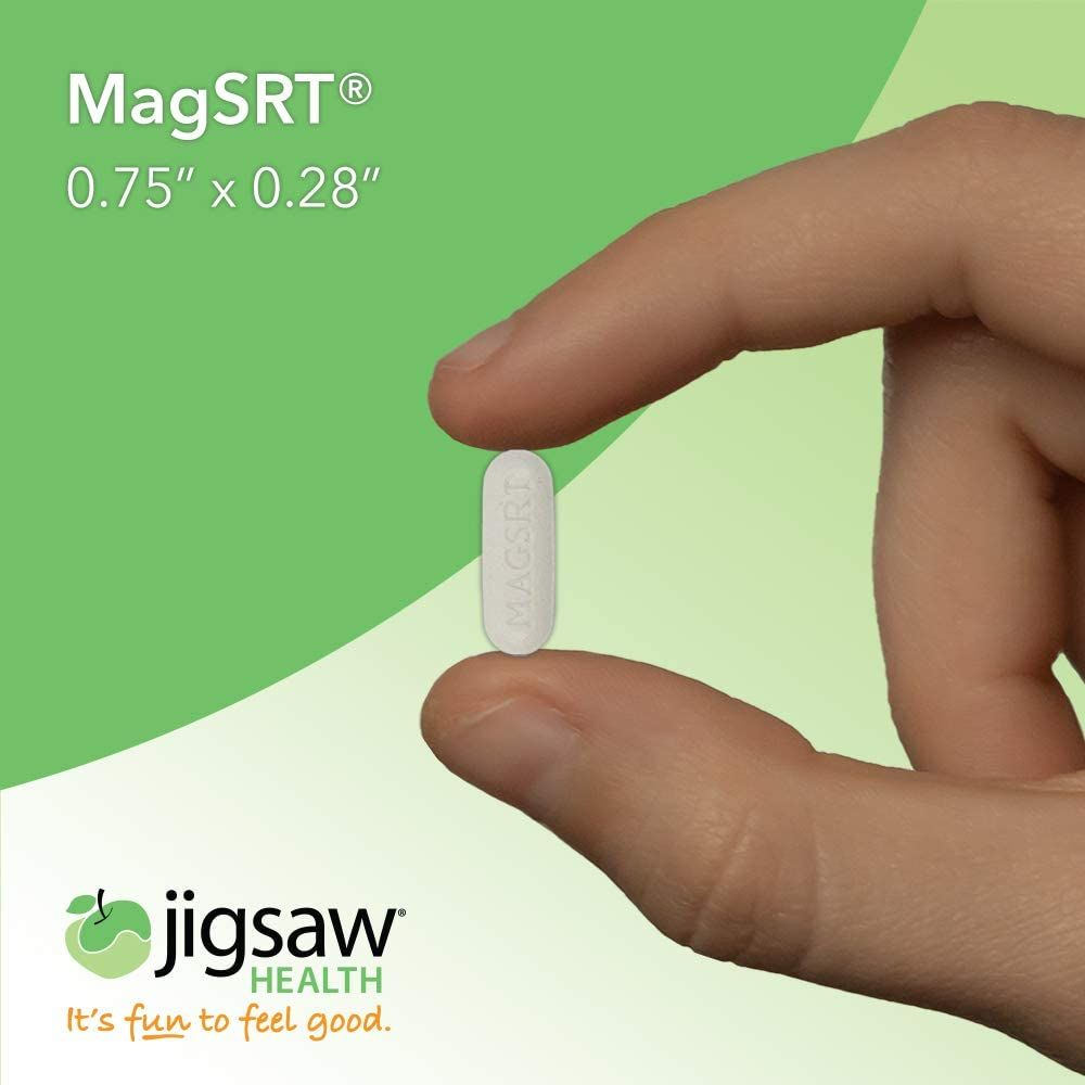 MagSRT - Jigsaw Health - Premium, Organic, Slow Release Magnesium Supplement - Active, Bioavailable Magnesium Malate Tablets with B-Vitamin Co-Factors, 240 Tablets (1)