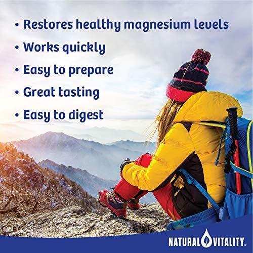 Natural Vitality Calm, The Anti-Stress Drink Mix, Magnesium Supplement Powder, Raspberry Lemon - 20 ounce