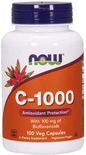 NOW Foods Supplements, Vitamin C-1,000 with 100 mg of Bioflavonoids, Antioxidant Protection*, 100 Veg Capsules