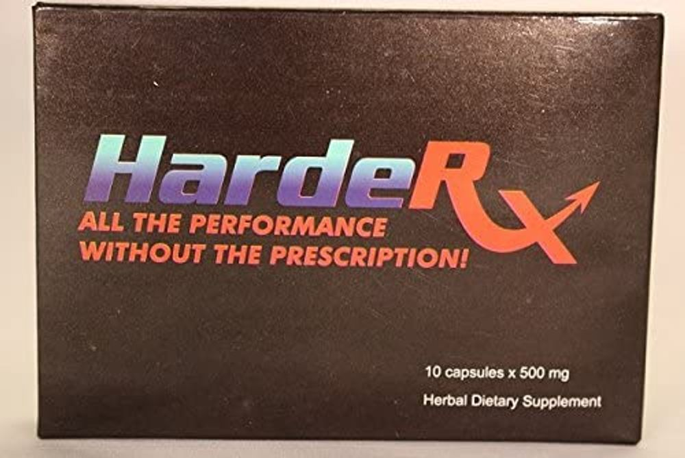 HardeRX Natural Male Enhancement Testosterone Booster (4 Pill Trial Size) - 4 Pill Trial Size