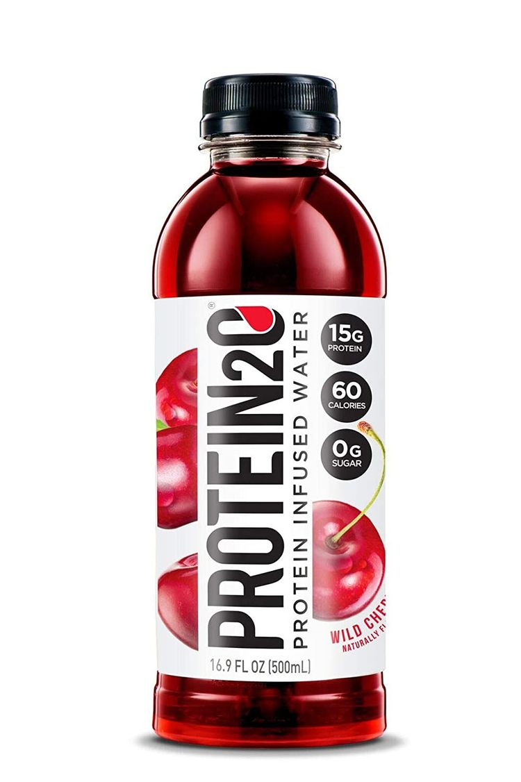 Protein2o Low-Calorie Protein Infused Water, 15g Whey Protein Isolate, Wild Cherry (16.9Ounce,Pack of 12)