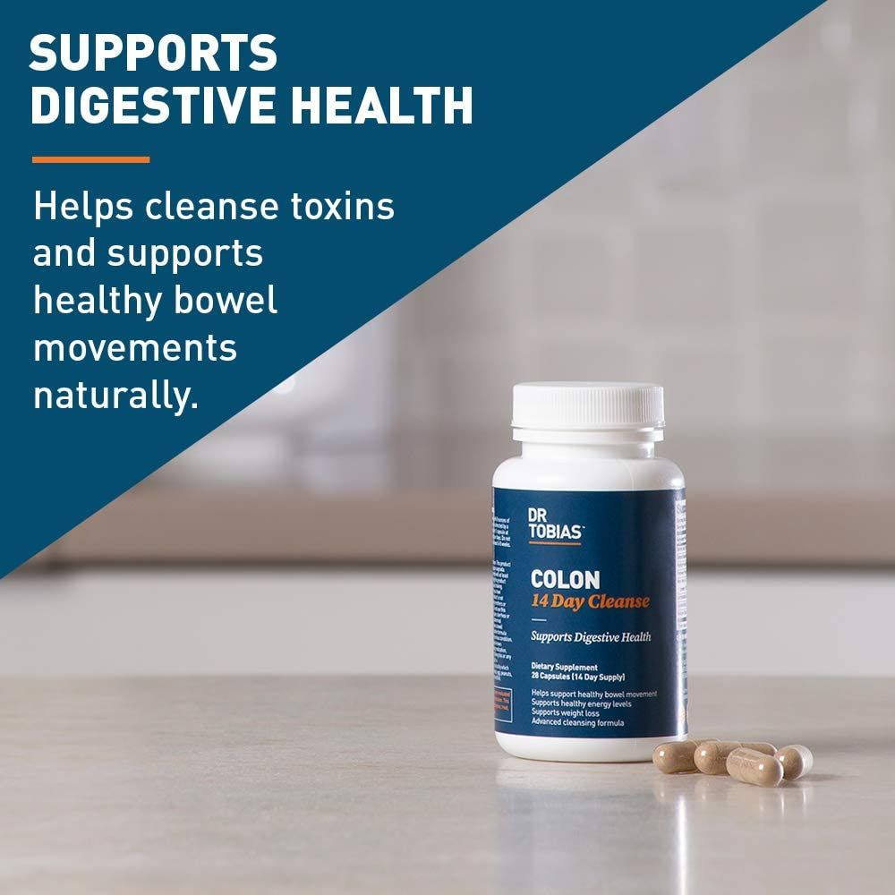 Dr. Tobias Colon 14 Day Cleanse, Supports Healthy Bowel Movements, 28 Capsules (1-2 Daily)