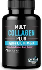 Multi Collagen Pills (Types I, II, III, V & X) - Collagen Peptides + Absorption Enhancer - Grass Fed Collagen Protein Blend for Anti-Aging, Hair, Skin, Nails and Joints (90 Collagen Capsules)