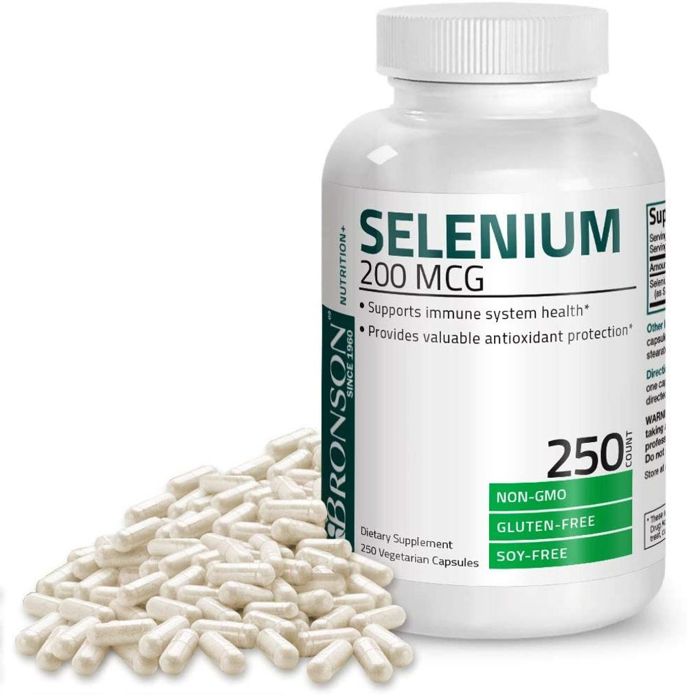 Selenium 200 Mcg for Immune System, Thyroid, Prostate and Heart Health - Selenium Amino Acid Complex - Essential Trace Mineral with Superior Absorption, Non GMO, 250 Capsules