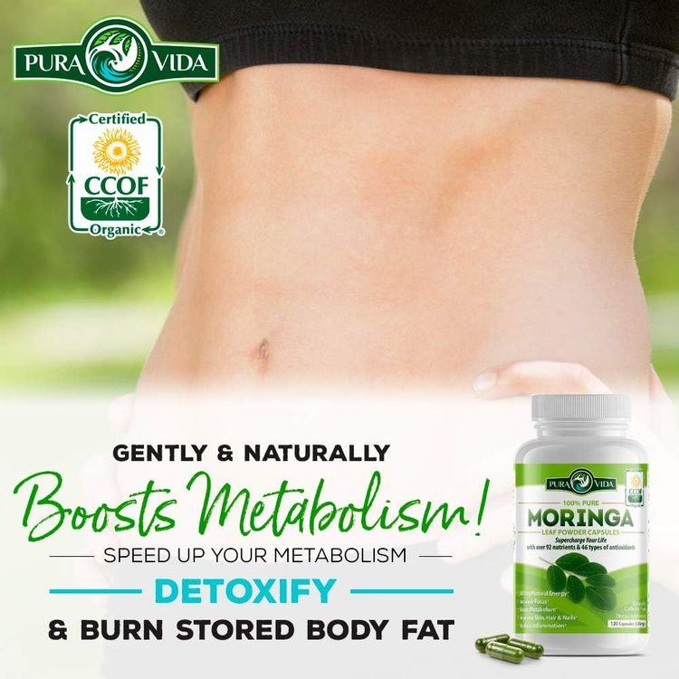 Organic Moringa Oleifera Powder Capsules: Energy, Metabolism, and Immune Booster. Natural Anti-Inflammatory. Rich in Nutrients and Antioxidants. Non-GMO, Nicaragua Single Origin 120 Caps of 500mg