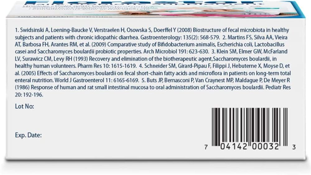 Florastor Daily Probiotic Supplement for Men & Women, 250 mg, 100 Capsules