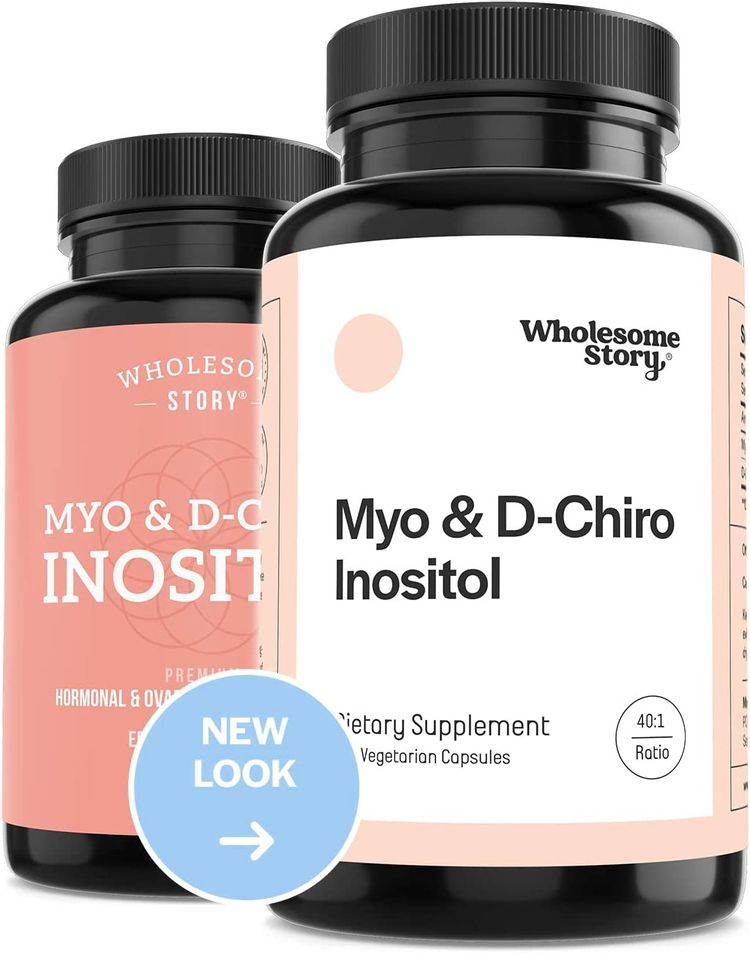 Myo-Inositol & D-Chiro Inositol Blend   30-Day Supply   Most Beneficial 40:1 Ratio   Hormonal Balance & Healthy Ovarian Function Support for Women   Vitamin B8   Made in USA (120 Capsules)