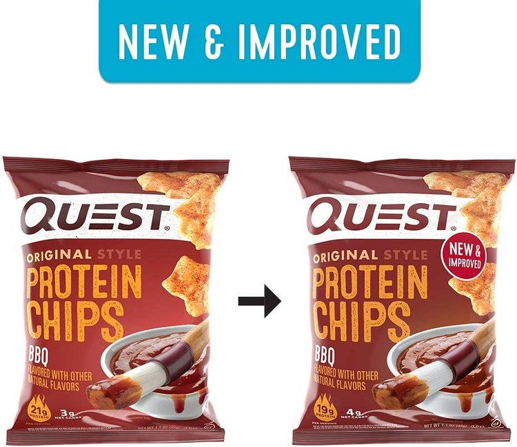 Quest Nutrition Protein Chips, BBQ, Pack of 12