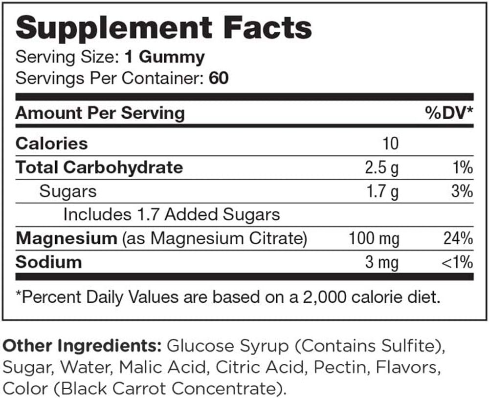 Chapter One Magnesium Gummies, Great Tasting Magnesium for Kids, Calm Kids Magnesium, Magnesium Gummies for Women and Men, Certified Kosher, 60 Gummies