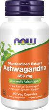 NOW Foods Supplements, Ashwagandha (Withania somnifera) 450 Mg (Standardized Extract), 90 Veg Capsules