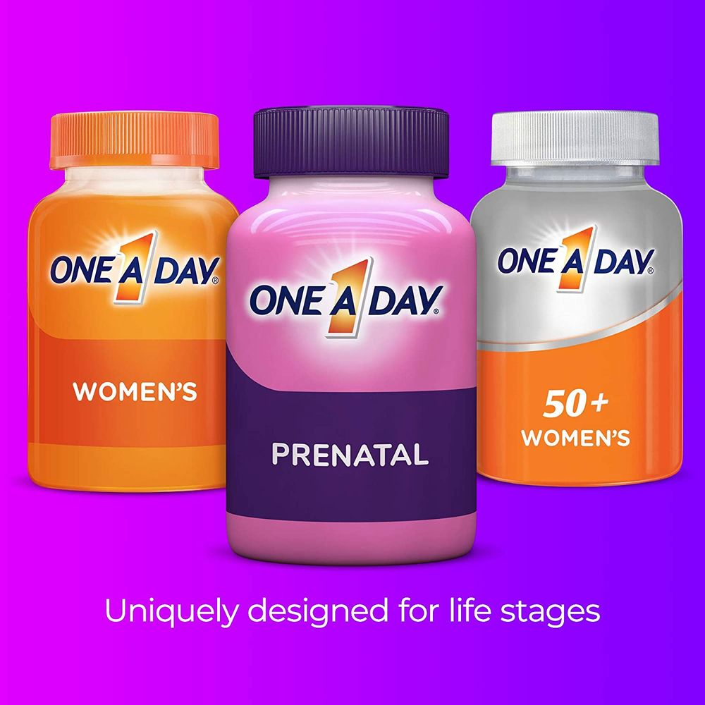 ONE A DAY Prenatal Vitamins for Women, 90 Count, Multivtamin with Omega 3 Fish Oil (DHA/EPA), Iron, Folic Acid, Vitamin C & more for Before, During, & Post Pregnancy