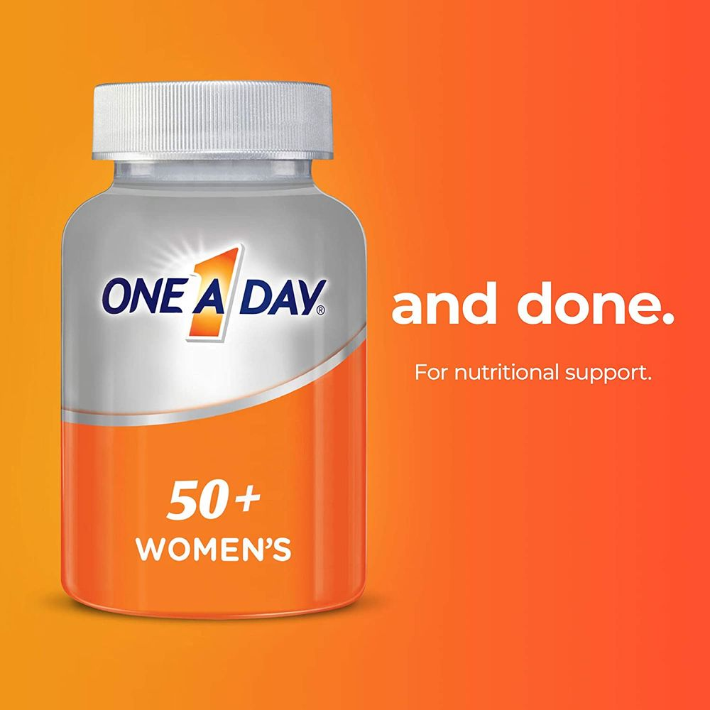 One A Day Women's 50+ Multivitamins, Supplement with Vitamin A, Vitamin C, Vitamin D, Vitamin E and Zinc for Immune Health Support*, Calcium & More, 175 Count