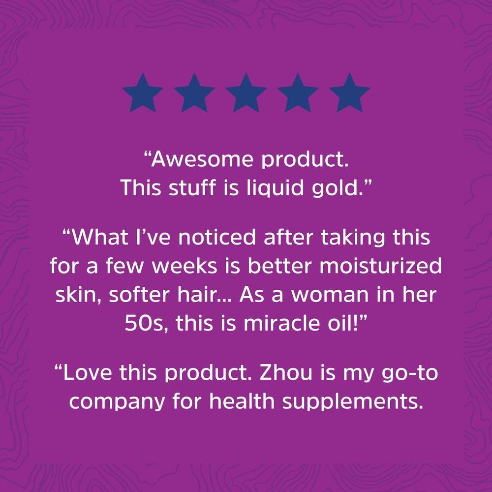 Zhou Organic Black Seed Oil | 100% Virgin | Cold Pressed Omega 3 6 9 | Super antioxidant for Immune Support, Joints, Digestion, Hair & Skin | 8oz