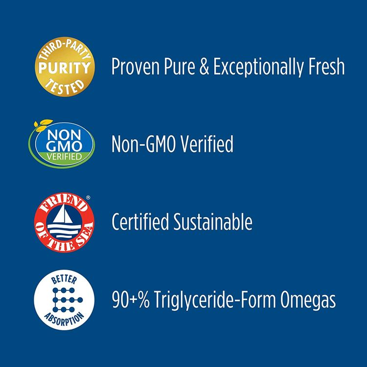Nordic Naturals Ultimate Omega, Lemon Flavor - 1280 mg Omega-3 - 60 Soft Gels - High-Potency Omega-3 Fish Oil Supplement with EPA & DHA - Promotes Brain & Heart Health - Non-GMO - 30 Servings