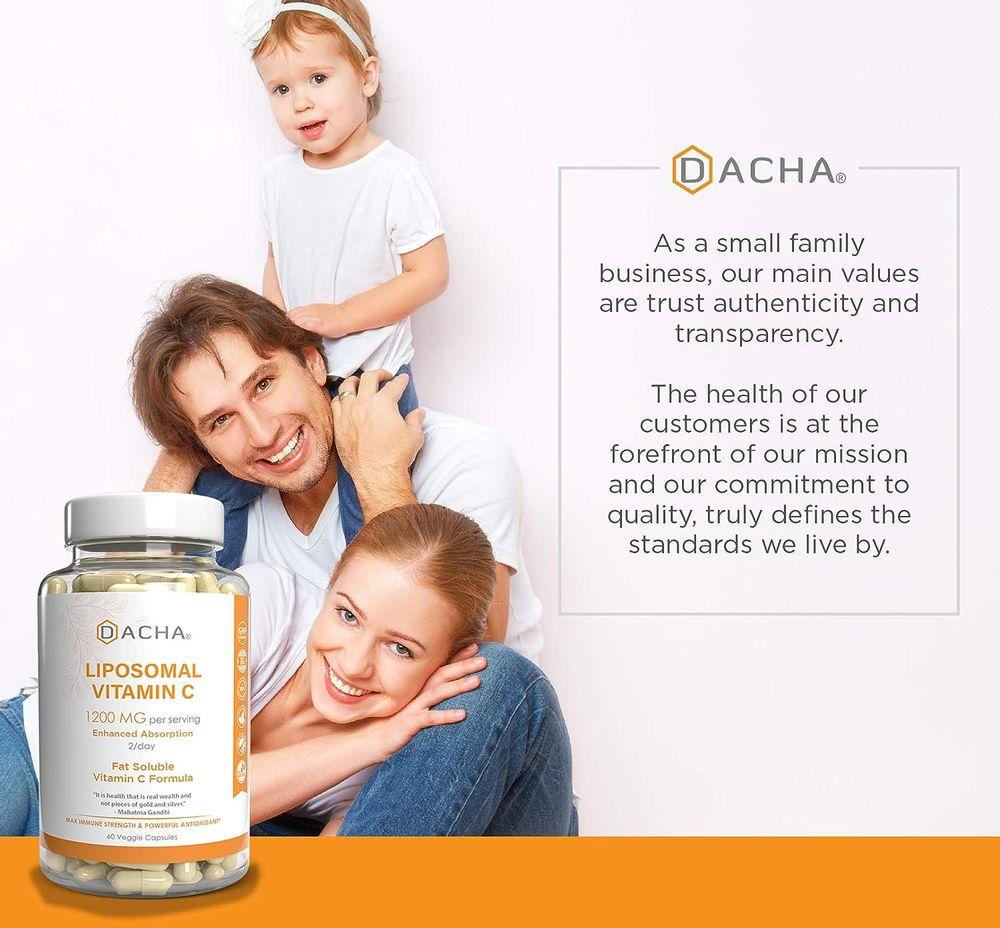 Natural Liposomal Vitamin C - Immune System & Collagen Booster, High Absorption Fat Soluble VIT C, Buffered 1200mg, Anti Aging Skin Vitamins, Anti Inflammatory, Sunflower Lecithin