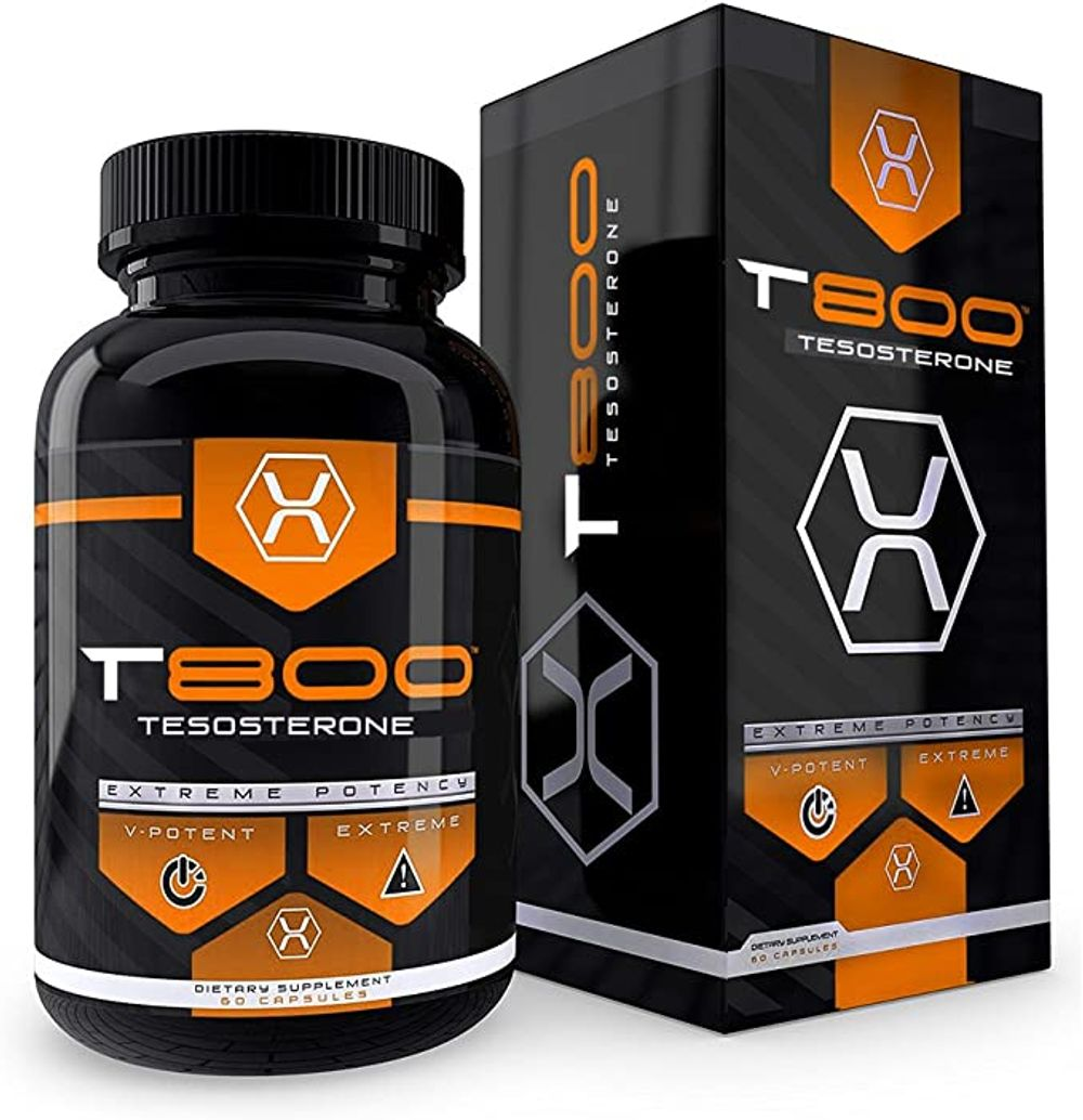 T800 Testosterone Booster Safe & All Natural Build Muscle Burn Fat Boost Vitality Stamina