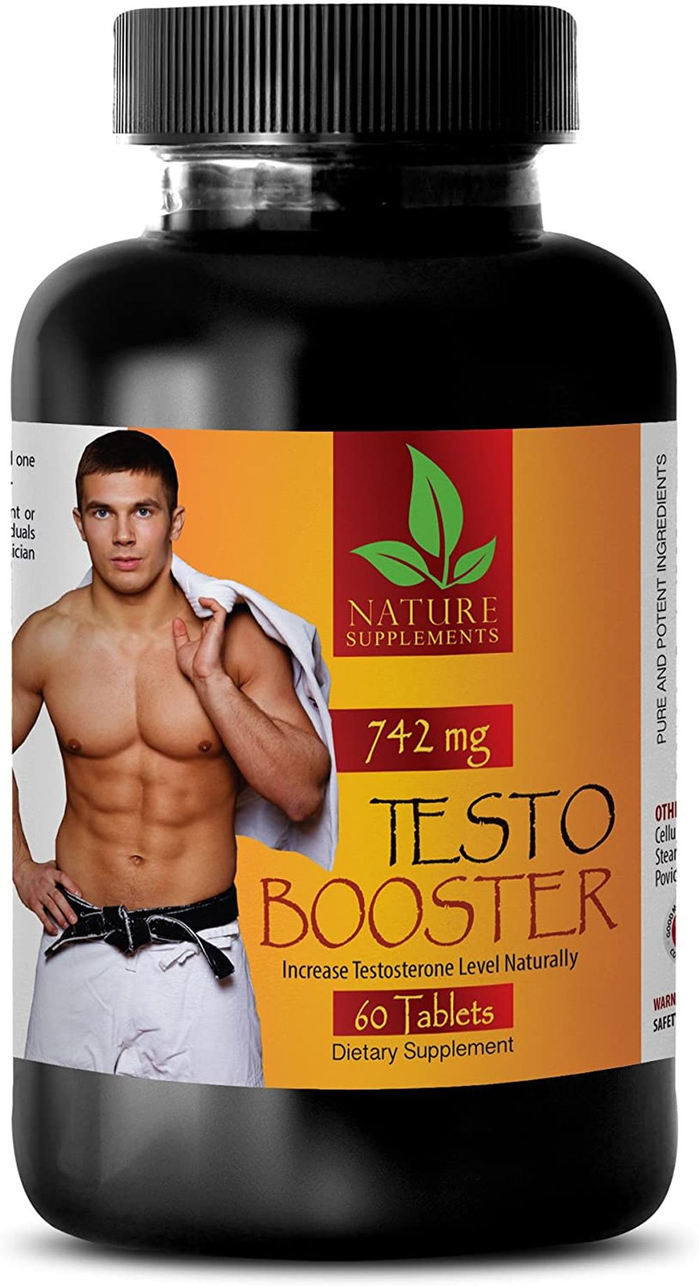 Increase Muscle Mass - Testosterone Booster 742Mg - Testosterone Booster for Men - 1 Bottle 60