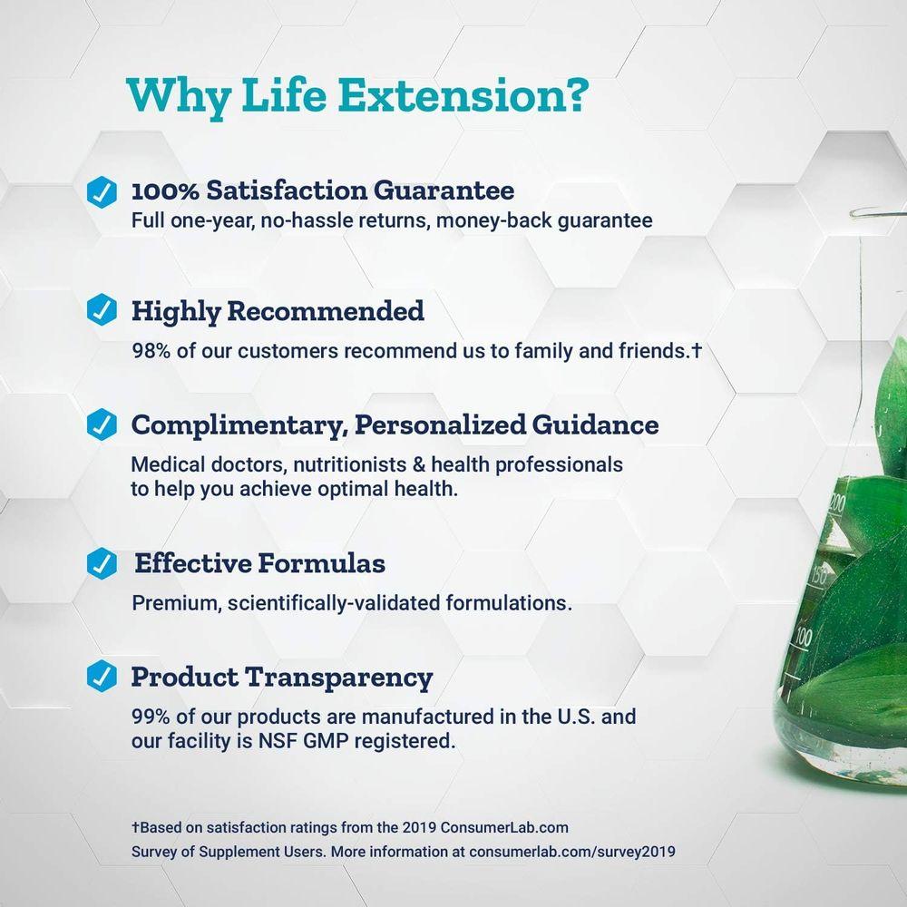 Life Extension Zinc Caps 50 Mg (High Potency) 90 Vegetarian Capsules