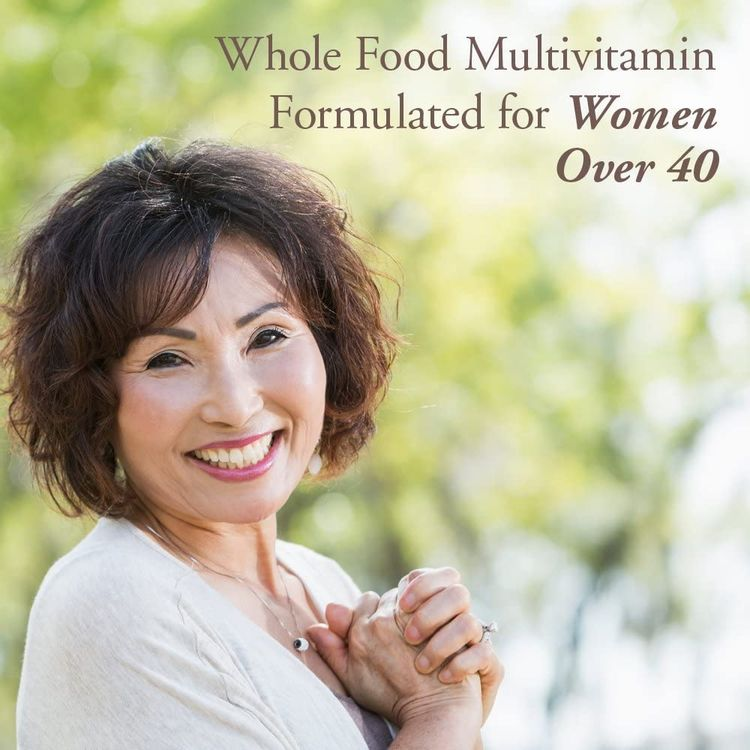 Garden of Life mykind Organics Vitamins for Women 40+ - 60 Tablets, Womens Multi 40+, Vegan Vitamins for Women Over 40, Hormone & Breast Health Support Blend, Whole Food Womens Multivitamin