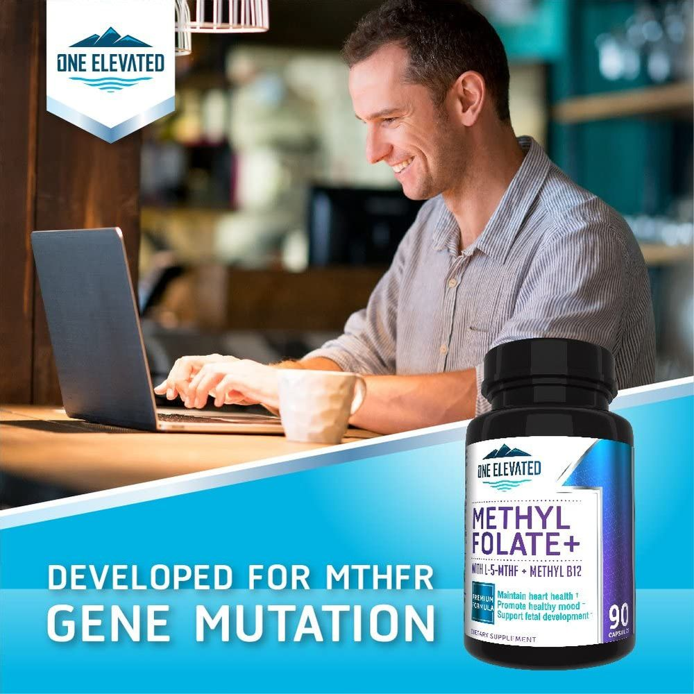 Double Strength & Most Bioactive Methyl Folate! Uniquely Formulated with Highest Pharmaceutical Grade Methylcobalamin (B12), Niacin, B1, B2 & B6. Works Synergistically for Max Results-3 Month Supply