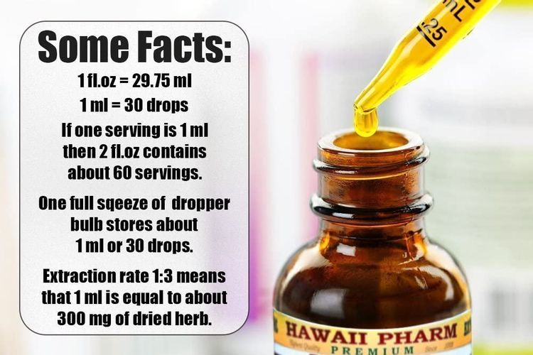 Teasel Alcohol-Free Liquid Extract, Teasel (Dipsacus fullonum) Dried Root Glycerite Natural Herbal Supplement, Hawaii Pharm, USA 2x2 fl.oz