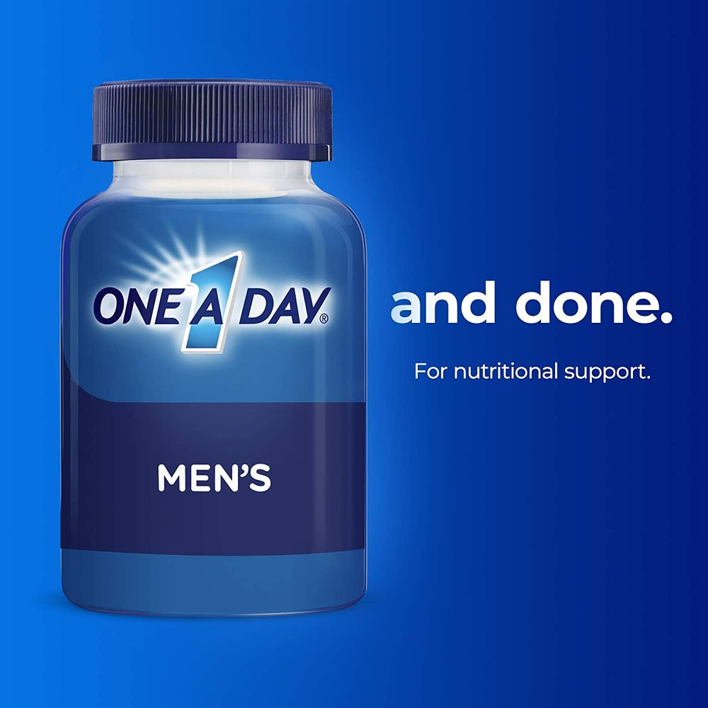 One A Day Energy Multivitamin, Supplement with Vitamin A, Vitamin C, Vitamin D, Vitamin E and Zinc for Immune Health Support*, Caffeine, Biotin, B6, B12 & more, 50 count