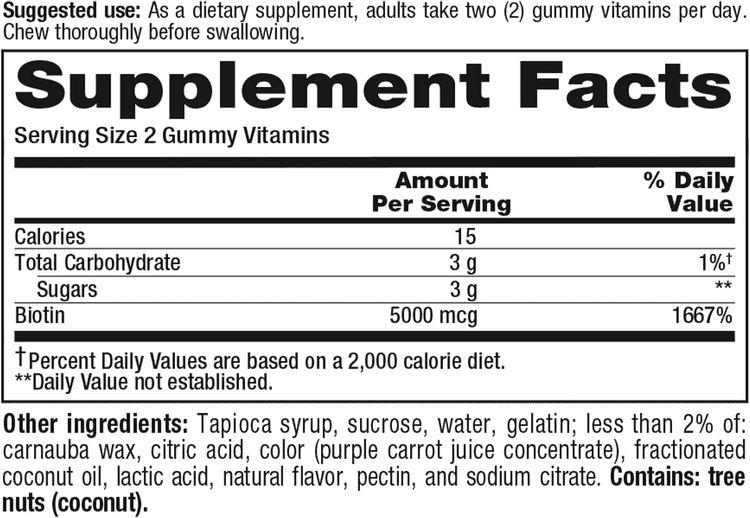 Vitafusion Extra Strength Biotin Gummies