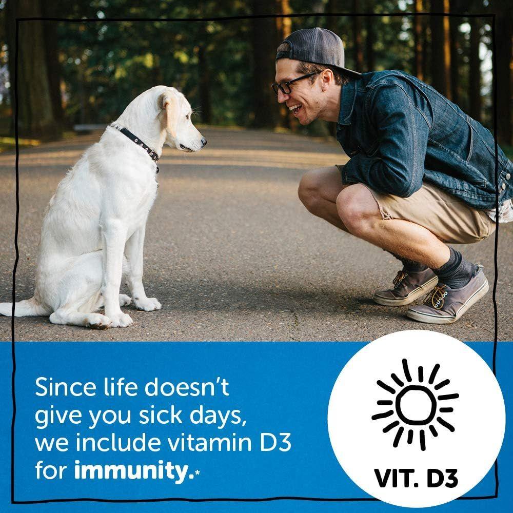 Daily Gummy Multivitamin Adult: Vitamin C, D3, & Zinc for Immunity, Omega 3 Fish Oil (DHA/EPA), Iodine, Choline, Vitamin B6, E, Methyl B12 by Smartypants (180 count, 30 Day Supply)