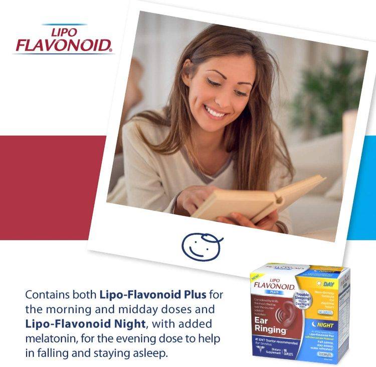 Lipo-Flavonoid Day and Night Combo Kit   Contains #1 ENT Doctor Recommended Lipo-Flavonoid Plus and Lipo-Flavonoid Night with Melatonin to Help Tinnitus Sufferers Sleep   90 Caplets