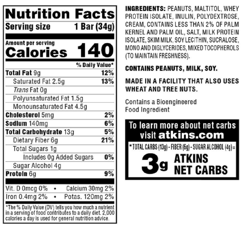 Atkins Endulge Treat Peanut Caramel Cluster Bar. Rich & Decadent Treat. Keto-Friendly. (5 Bars)