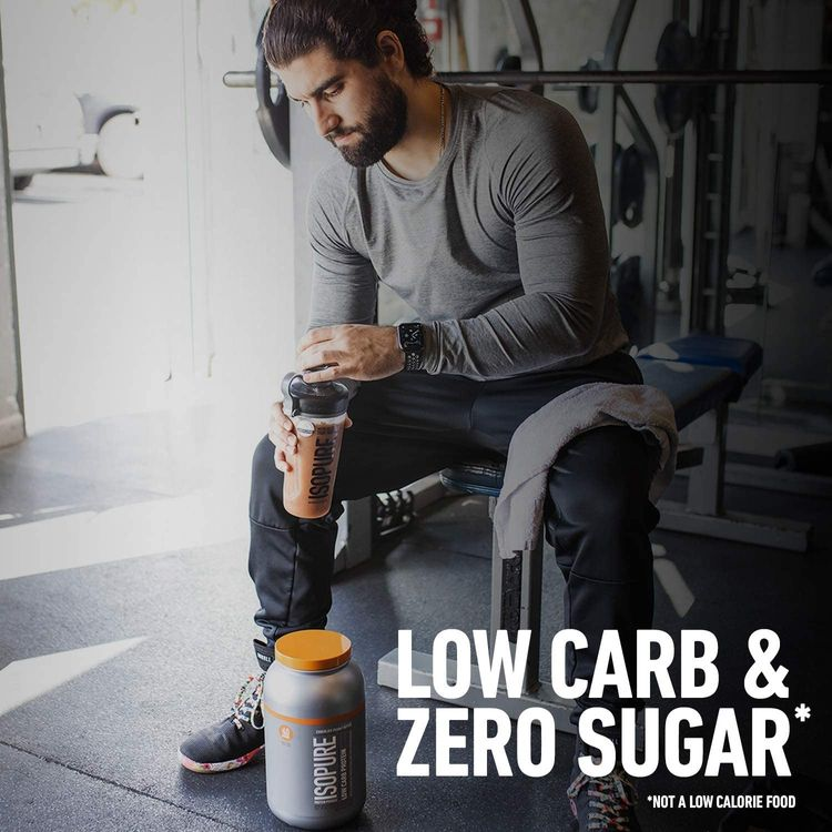 Isopure Low Carb, Vitamin C and Zinc for Immune Support, 25g Protein, Keto Friendly Protein Powder, 100% Whey Protein Isolate, Flavor: Apple Pie, 3 Pounds (Packaging May Vary)