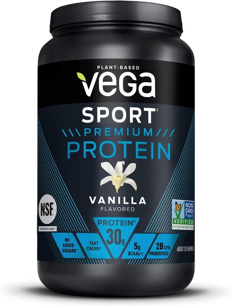 Vega Sport Premium Protein Powder, Vanilla, Plant Based Protein Powder Post Workout - Certified Vegan, Vegetarian, Keto-Friendly, Gluten Free, Dairy Free, BCAA Amino Acid (20 Servings / 1lb 13.2oz)