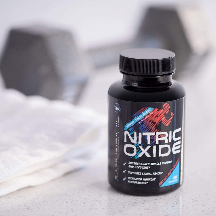 Extra Strength Nitric Oxide Supplement L Arginine 1300mg - Citrulline Malate, AAKG, Beta Alanine - Premium Muscle Building No Booster for Strength & Energy to Train Harder - 60 Capsules