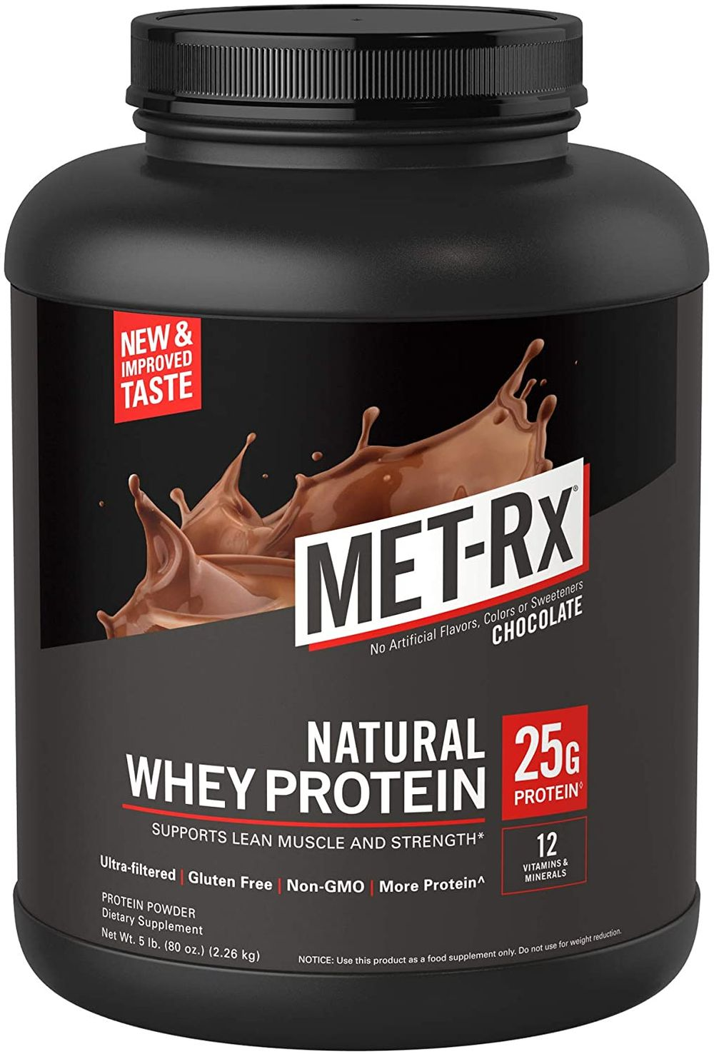 MET-Rx Natural Whey Protein Powder, Great for Meal ...