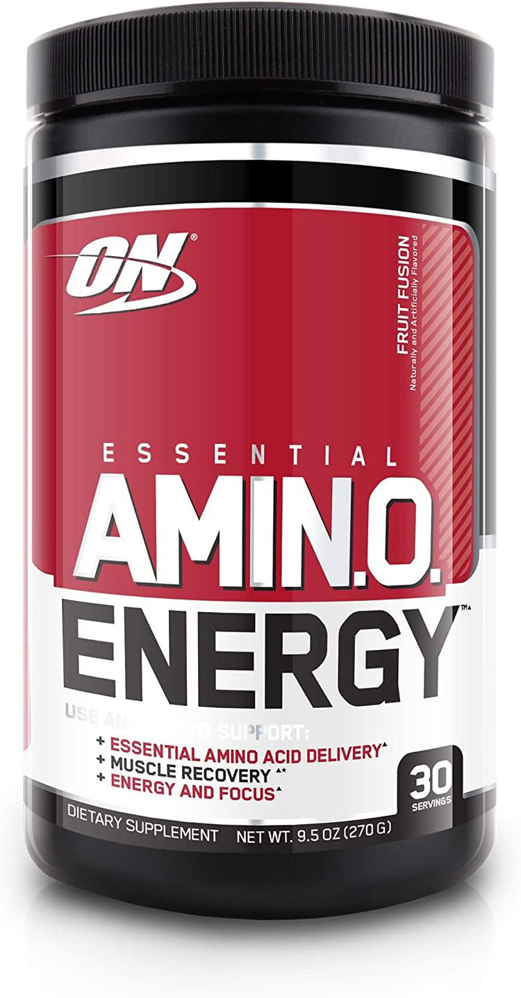 Optimum Nutrition Amino Energy - Pre Workout with Green Tea, BCAA, Amino Acids, Keto Friendly, Green Coffee Extract, Energy Powder - Fruit Fusion, 30 Servings