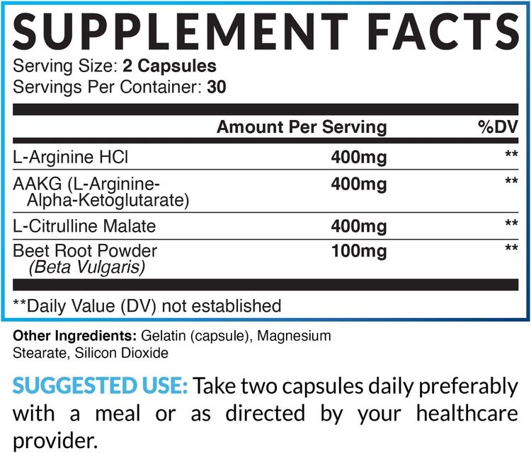 Havasu Nutrition Extra Strength L Arginine - 1200mg Nitric Oxide Supplement for Muscle Growth, Vascularity and Energy - L-Citrulline & Essential Amino Acids to Support Physical Endurance, 60 Capsules