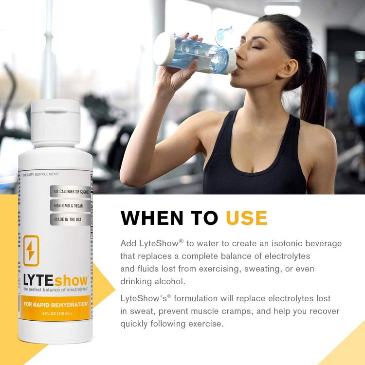 LyteShow Sugar-Free Electrolyte Supplement for Hydration and Immune Support - 40 Servings - Keto Friendly - Zinc and Magnesium for Rapid Rehydration, Workout, Muscle Recovery and Energy - Vegan