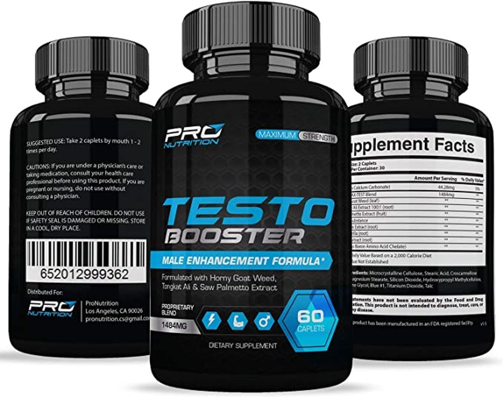 Testosterone Booster Extra Strength - Naturally Increases Energy Strength Muscle Mass Stamina