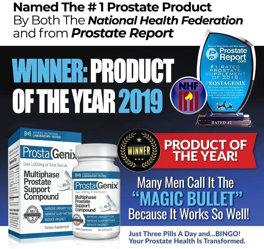 ProstaGenix Multiphase Prostate Supplement-Featured on Larry King Investigative TV Show - Over 1 Million Sold - End Nighttime Bathroom Trips, Urgency, Frequent Urination. 90 Capsules