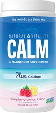 Natural Vitality Calm #1 Selling Magnesium Citrate PLUS Calcium, Anti-Stress Magnesium Supplement Drink Mix, Raspberry-Lemon, Vegan, Gluten Free, Non-GMO (Package May Vary), 16 oz 113 Servings