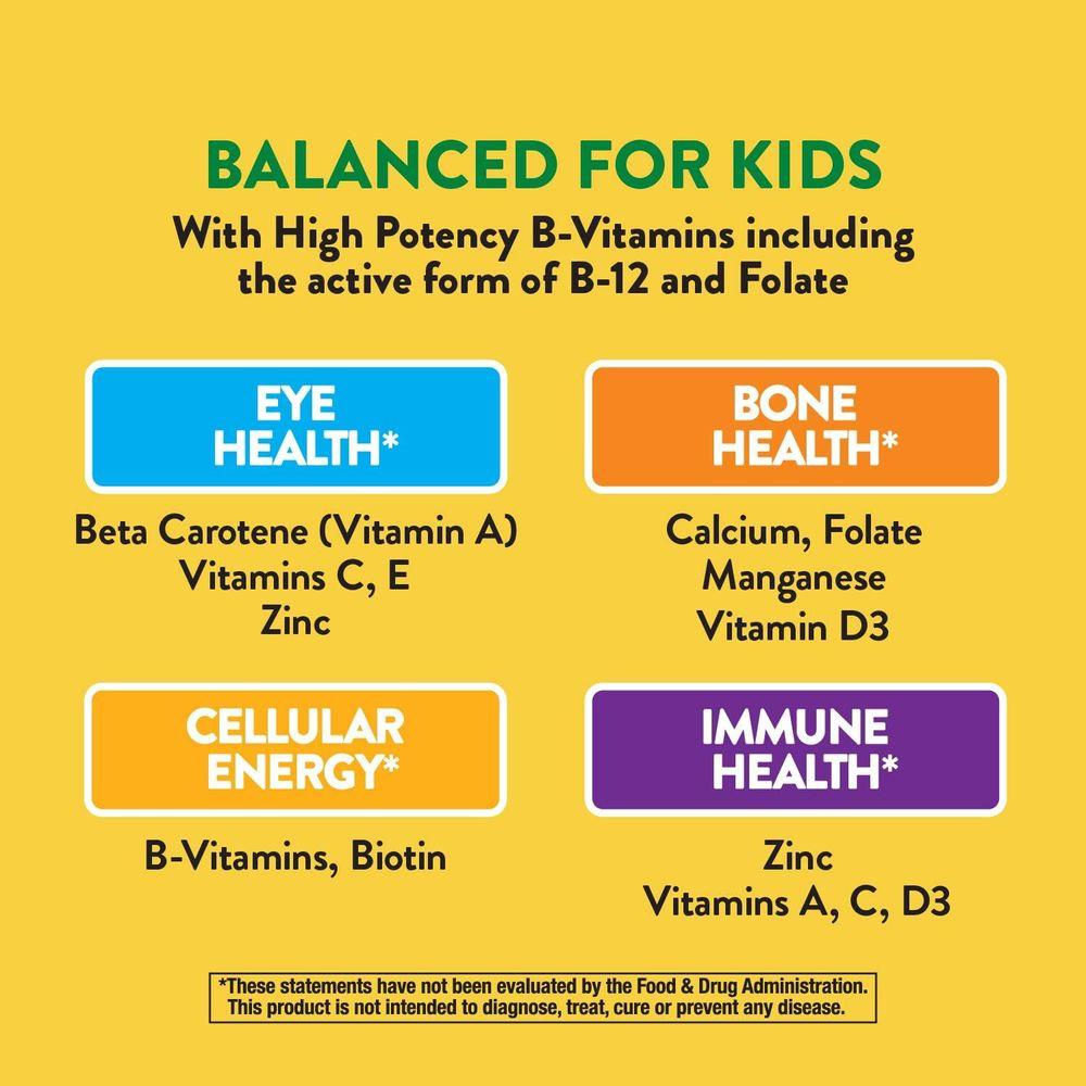 Nature's Way Alive! Children's Premium Chewable Multivitamin, Gluten Free, 120 Chewable Tablets