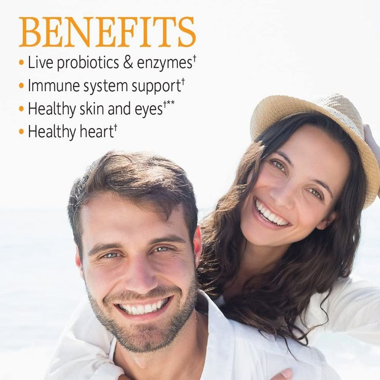 Garden of Life Vitamin Code Raw Vitamin C - 60 Capsules, 500mg Whole Food Vitamin C, Fruit & Veggie Blend, Probiotics, Vitamin C Capsules, C Vitamins Supplements for Adults, Vegan, Gluten Free