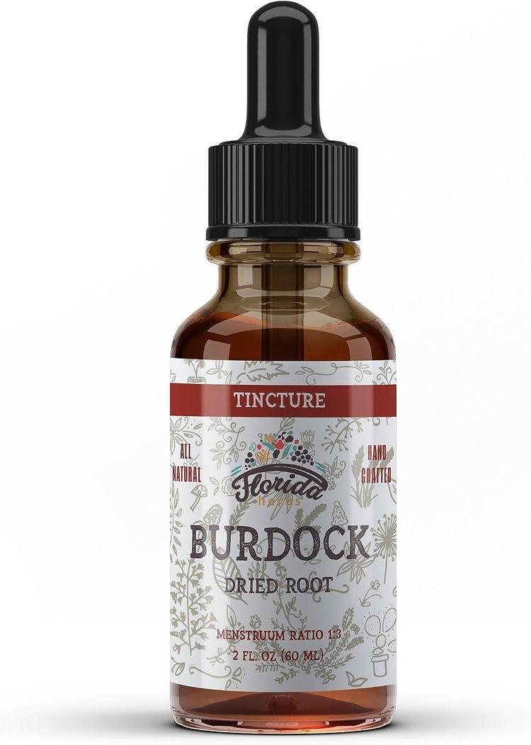 Burdock Tincture, Organic Burdock Extract Dried Root (Arctium Lappa) Burdock Drops, Non-GMO in Cold-Pressed Organic Vegetable Glycerin 2 oz, 670 mg
