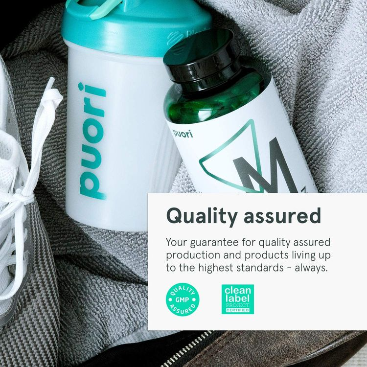 Puori Organic Magnesium Zinc Supplement - 300mg x 120 Vegan Capsules - M3 for Sleep & Immune Support, Muscle Recovery, Leg Cramps - Zinc 15mg, Vitamin B6 11mg, Malic Acid 300mg