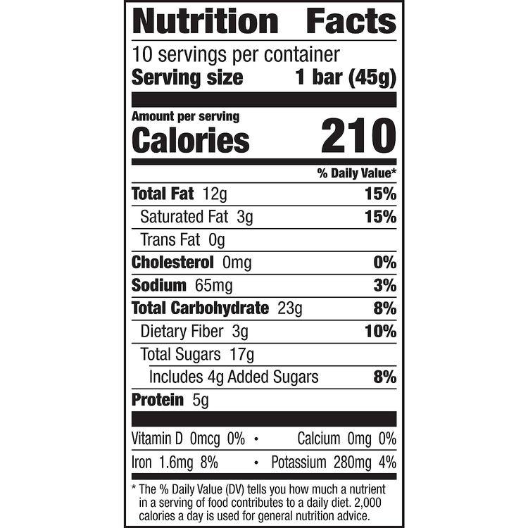 Larabar Gluten Free Bar, Peanut Butter Chocolate Chip, 16 oz