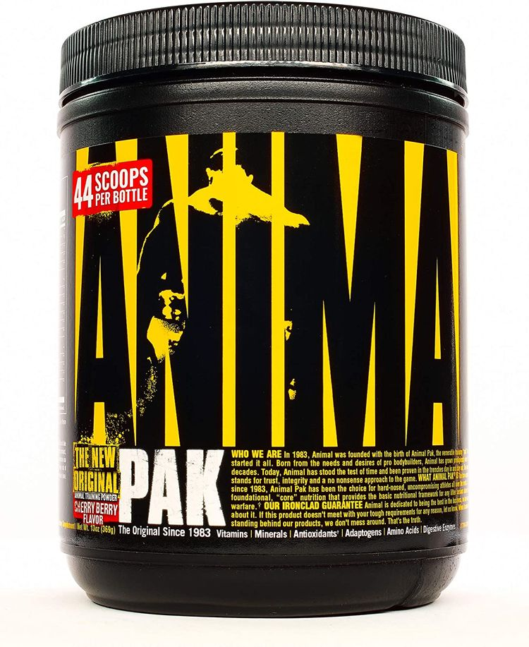 Animal Pak - The Complete All-in-one Training Pack - Multivitamins, Amino Acids, Performance Complex and More - For Elite Athelets and Bodybuilders - Cherry - 44 Scoops