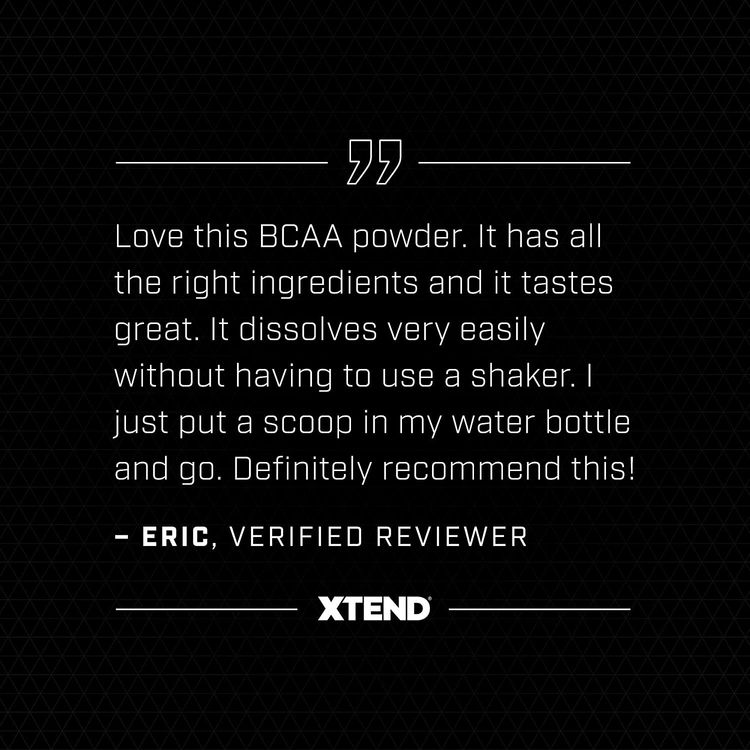 XTEND Sport BCAA Powder Blue Raspberry Ice | Electrolyte Powder for Recovery & Hydration with Amino Acids | 30 Servings